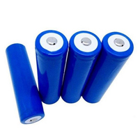 Cylindrical Button Top 18650 Battery Cell 3.7v Rechargeable Lithium