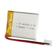 Small Lipo 3.7 V  343035 300mah Rechargeable Battery Pack 500 Times Cycle Life
