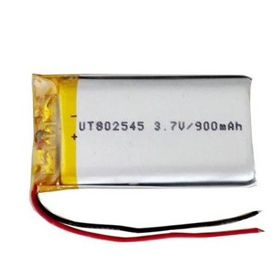 Safe Single Cell Lipo Battery 802545 3.7V 900mah Rechargeable Battery
